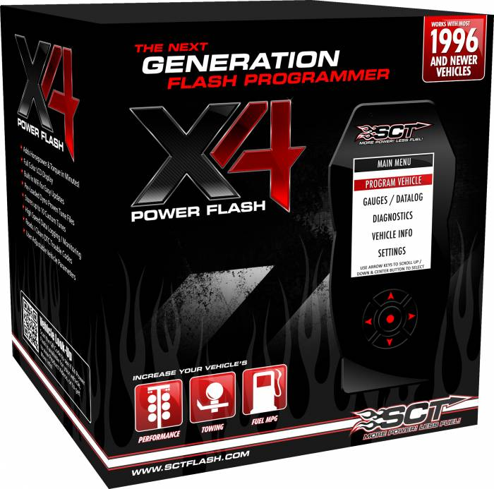 SCT Performance - SCT Performance Ford X4 Power Flash Pre-programmed Device 7015