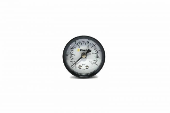 Fuelab - Fuelab Fuel Pressure Gauge, DUAL SCALE BAR/CARB 71512