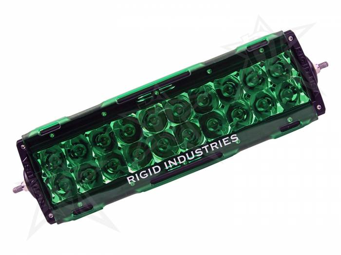 "Rigid Industries - Rigid Industries 10"" E-Series Light Cover - Green - trim 4"" & 6"" 11097"