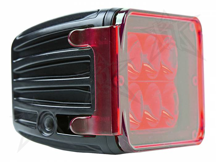 Rigid Industries - Rigid Industries Protective Polycarbonate Cover - Dually/D2 - Red 20195