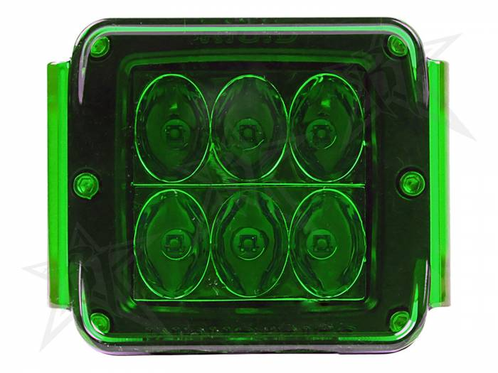 Rigid Industries - Rigid Industries Protective Polycarbonate Cover - Dually/D2 - Green 20197