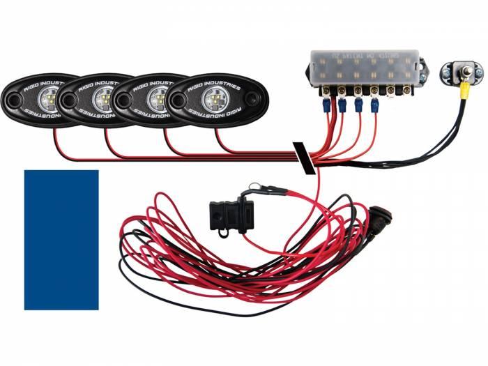 Rigid Industries - Rigid Industries Boat Deck Kit, 4 LIGHTS-BLUE 40077