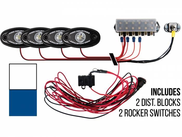 Rigid Industries - Rigid Industries Boat Deck Kit, 4 LIGHTS-2CW 2BL 40081