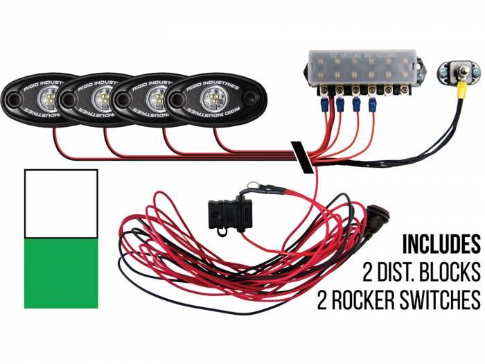Rigid Industries - Rigid Industries Boat Deck Kit, 4 LIGHTS-2CW 2GR 40083