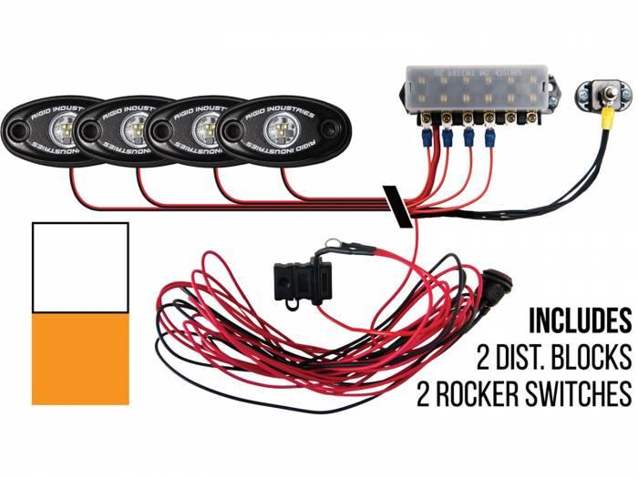 Rigid Industries - Rigid Industries Boat Deck Kit, 4 LIGHTS-2CW-2AM 40084