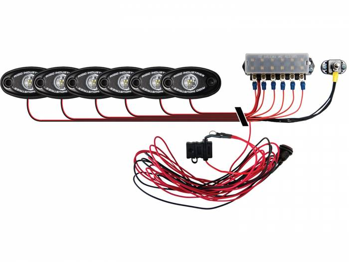 Rigid Industries - Rigid Industries Boat Deck Kit, 6 LIGHTS-COOL WH 40085