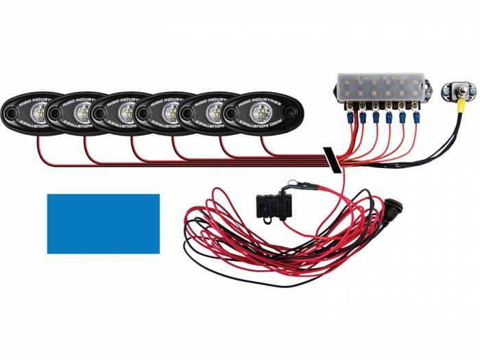 Rigid Industries - Rigid Industries Boat Deck Kit, 6 LIGHTS-BLUE 40086