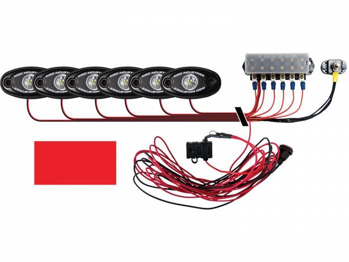 Rigid Industries - Rigid Industries Boat Deck Kit, 6 LIGHTS-RED 40087