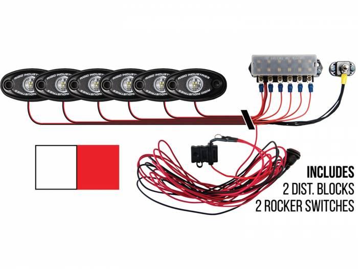 Rigid Industries - Rigid Industries Boat Deck Kit, 6 LIGHTS-2CW 4RD 40091