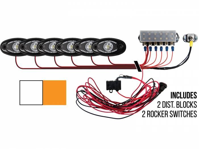 Rigid Industries - Rigid Industries Boat Deck Kit, 6 LIGHTS-2CW 4AMB 40093