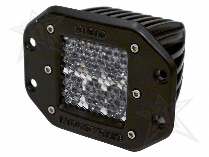 Rigid Industries - Rigid Industries D2 - Flush Mount - 60 Deg. Lens - Single 51151