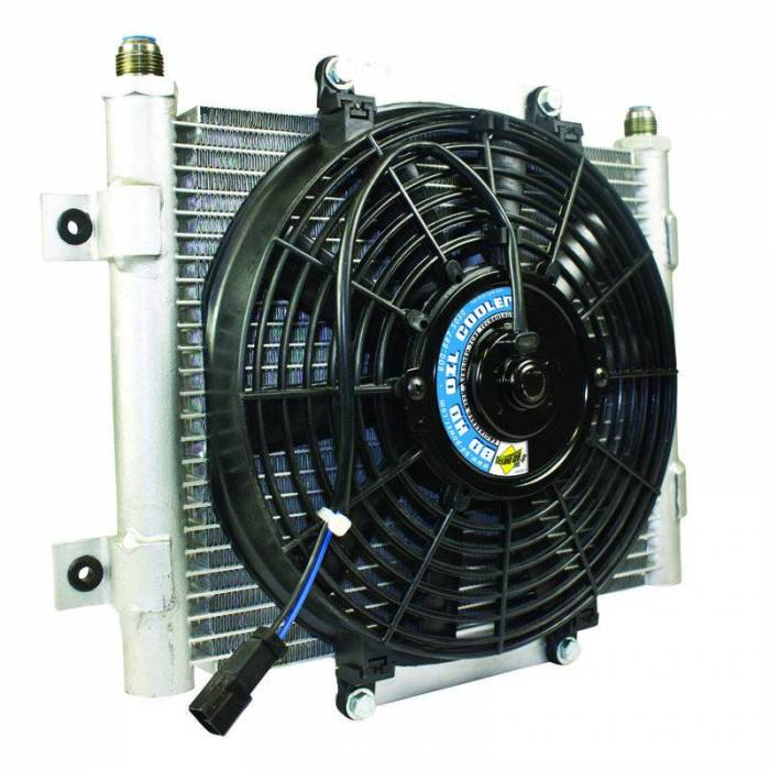 BD Diesel - BD Diesel Xtrude Core Heavy Duty Trans Cooler w/Fan & -10 JIC Male Connection 1300611