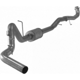 "FLO PRO - Flo-Pro Aluminized 4"" Turbo Back Exhaust w/Muffler 17 GM 6.6L Duramax L5P"