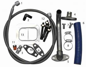 Turbo Chargers & Components - Turbo Charger Kits - Fleece Performance - Fleece Performance 2001-2010 Duramax S300/S400 Turbo Installation Kit FPE-TURBO-INST-KIT-DMAX