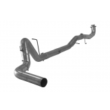 "Exhaust - Exhaust Systems - FLO PRO - Flo-Pro Aluminized 5"" Turbo Back Single Exhaust System w/o Muffler 17+ GM 6.6L Duramax L5P"