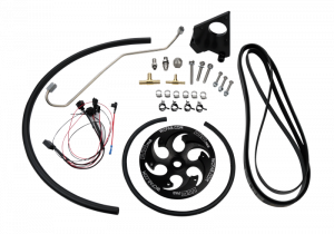 2004.5-2005 GM 6.6L LLY Duramax - Fuel System - Wehrli Custom Fabrication - LLY Duramax Twin CP3 Kit Black Anodized Pulley