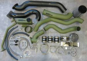 Turbo Chargers & Components - Turbo Charger Kits - Wehrli Custom Fabrication - 2004.5-2005 LLY Duramax S400/S300 Twin Turbo Install Kit